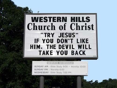 Funny Church Signs | Flickr - Photo Sharing!