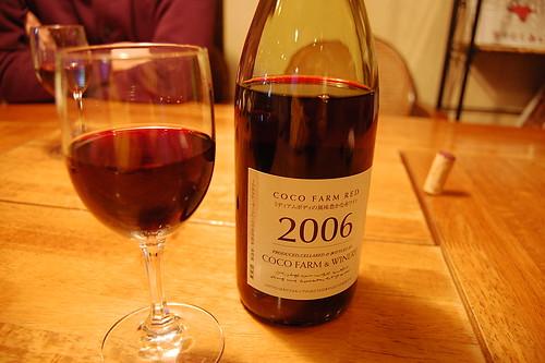ココファームの赤ワイン(SAYAKA CAFE MARUYOSHI・宇都宮市)