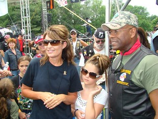With Sarah Palin and her daughter
