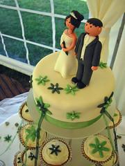 yellow(0.0), birthday cake(0.0), cake(1.0), buttercream(1.0), fondant(1.0), baked goods(1.0), sugar paste(1.0), food(1.0), cake decorating(1.0), icing(1.0), torte(1.0), wedding cake(1.0), cuisine(1.0),