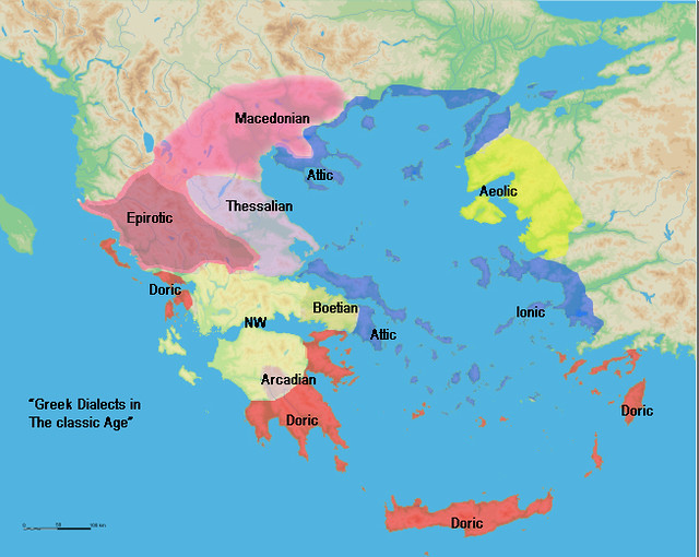 Ancient Greece Map Macedonia.Ancient Greek Dialects Dorus 1 Is The Man Who Called The D Flickr