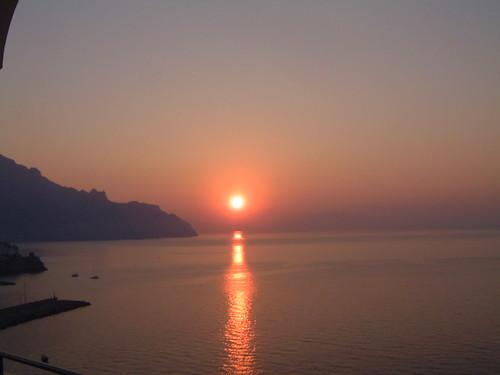 sunset italy sunrise amalfi