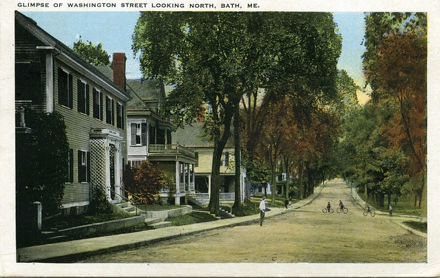 Early 1930s Postcard From Bath Maine USA Flickr Photo Sharing