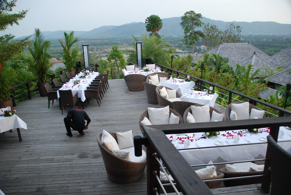 Dining area at 360 Bar, Phuket Pavilions
