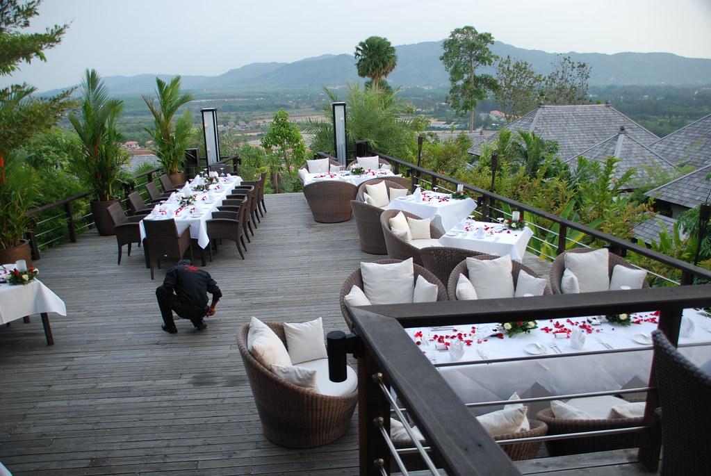 Dining area at 360 Bar, Phuket Pavilions