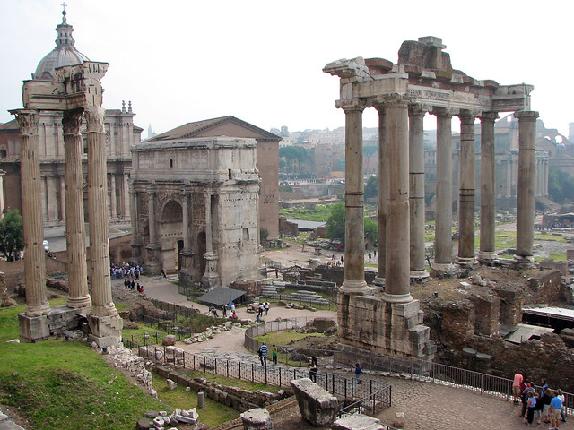 Roma  - Imperial Forums - Temple of Saturn & Arch of Septimius Severus