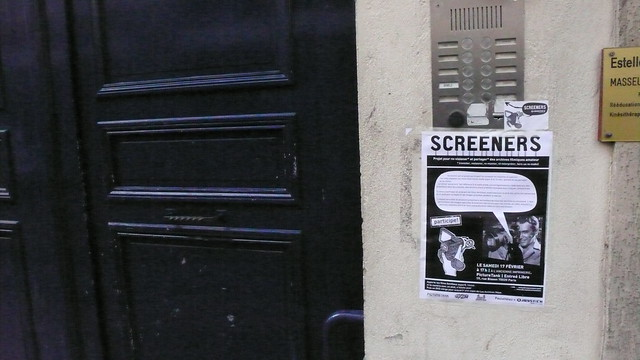 Session Screeners à Paris. L'affiche