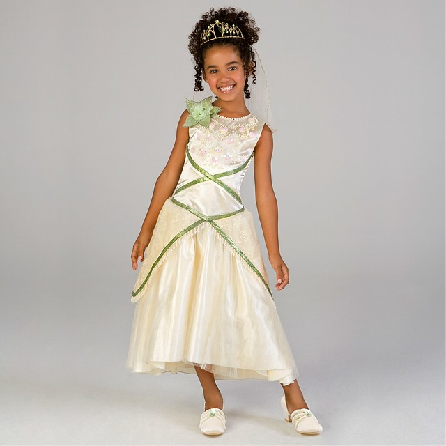 Princess Tiana Dress: The Princess And The Frog Deluxe Princess Tiana Wedding