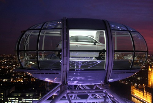 new Fiat 500 london eye view
