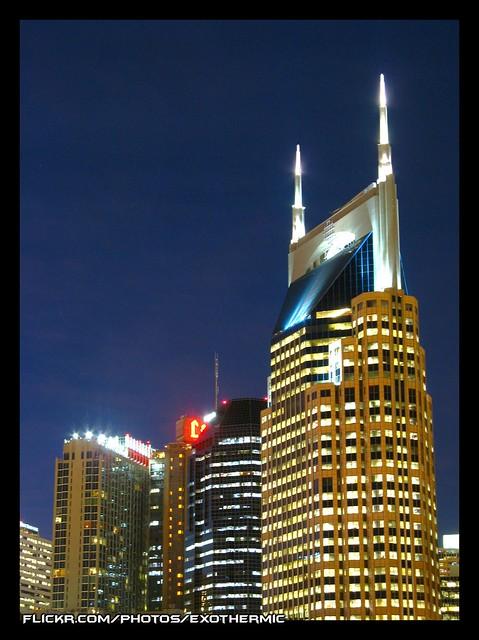 Nashville Skyline at Twilight 2 | I made an attempt to get ...