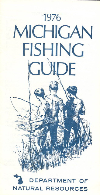 1976 michigan vintage fishing license law digest guide for How much is a fishing license in michigan