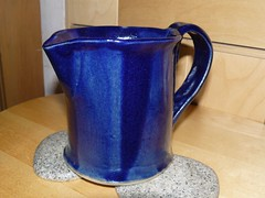 art, jug, cup, pottery, pitcher, drinkware, cobalt blue, mug, ceramic, blue,