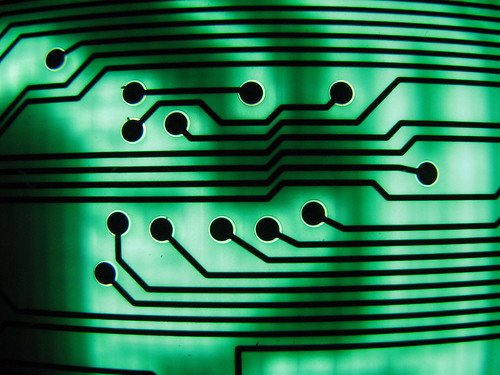 green circuit board II... from Flickr via Wylio