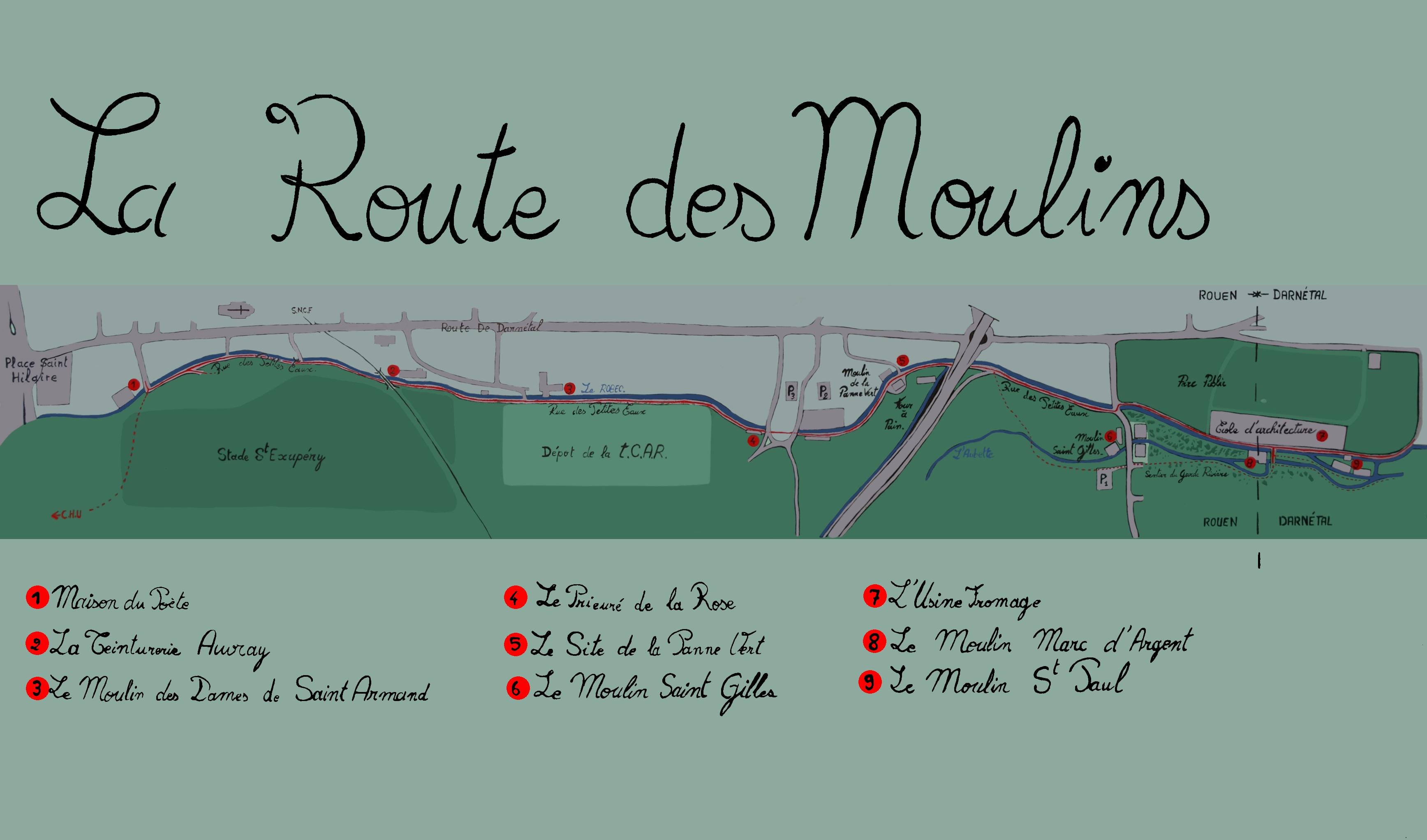 Plan de la route des moulins flickr photo sharing for Plan de moulins