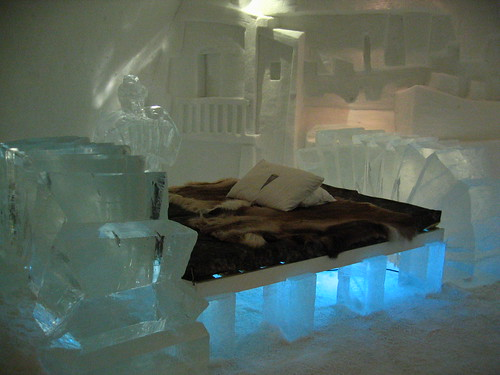 All the creature comforts in Sweden's ice-hotel – just don't forget to bring your long-johns and a hat!