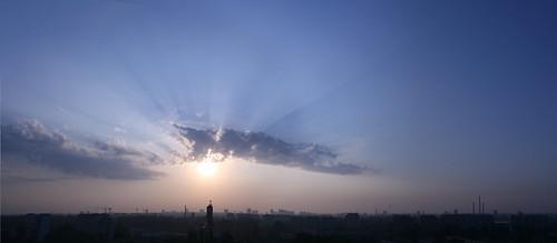 sky sunrise canon lodz