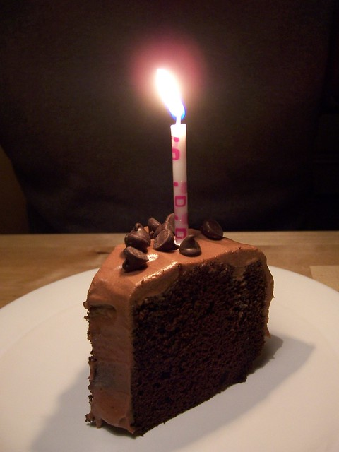 Chocolate Cake Images Birthday With Candles : photo