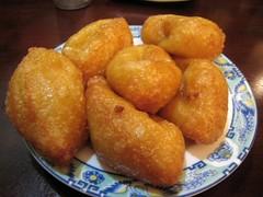 oliebol(0.0), baked goods(0.0), rissole(0.0), mcdonald's chicken mcnuggets(0.0), produce(0.0), youtiao(0.0), loukoumades(0.0), beignet(0.0), croquette(1.0), fried food(1.0), arancini(1.0), food(1.0), dish(1.0), dessert(1.0), cuisine(1.0), fast food(1.0),