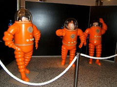 Tintin in Space - the cartoon museum Brussels