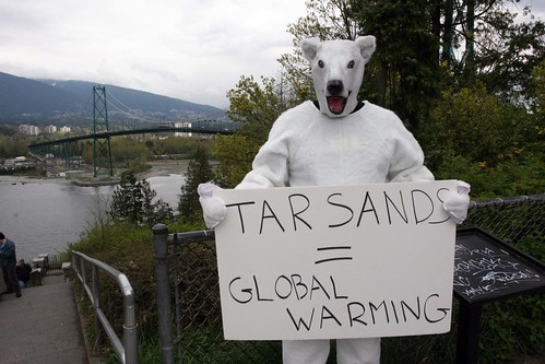 Polar Bear Alberta Oil Sands Protest in Vancouver, BC, Canada
