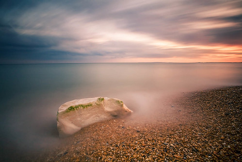 longexposure sunset seascape rock unitedkingdom 5d milfordonsea canon1740f4l