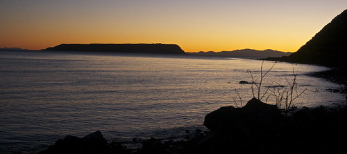 light sunset sea newzealand water canon landscape bay coast wellington mana plimmerton porirua hongoeka