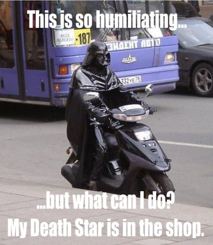 Darth Vader's alternate transportation
