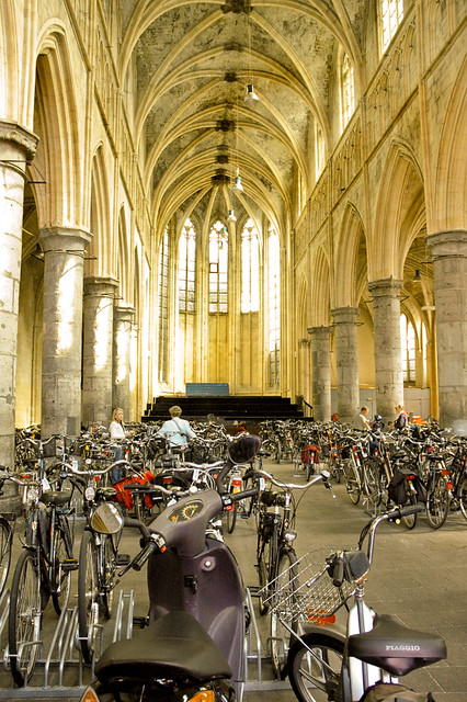 church with bikes