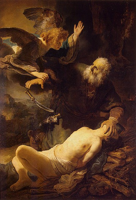 REMBRANDT Harmenszoon van Rijn Sacrifice of Isaac, 1635 from Flickr via Wylio