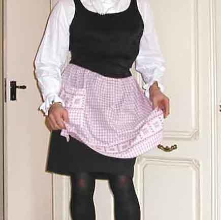 Lilac waist apron