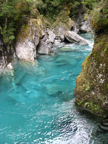 Blue pools, New Zealand