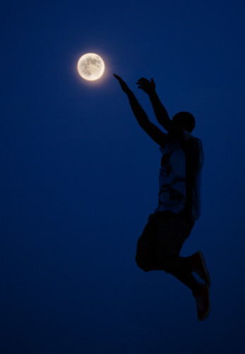silhouette moon super sunset night libya
