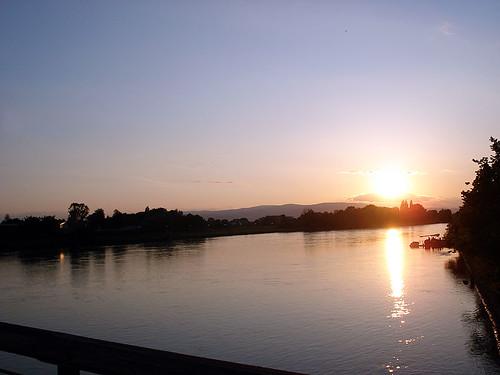 sunset slovenia 2007 drava ptuj