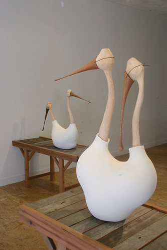 """Installation view: """"Drafting for Twins"""" and """"Migration Patterns"""""""