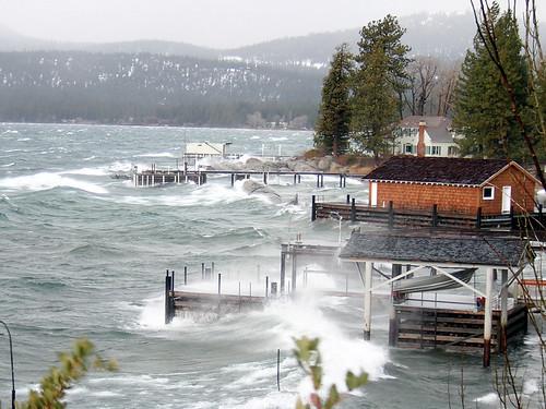 storm tahoe laketahoe boathouse