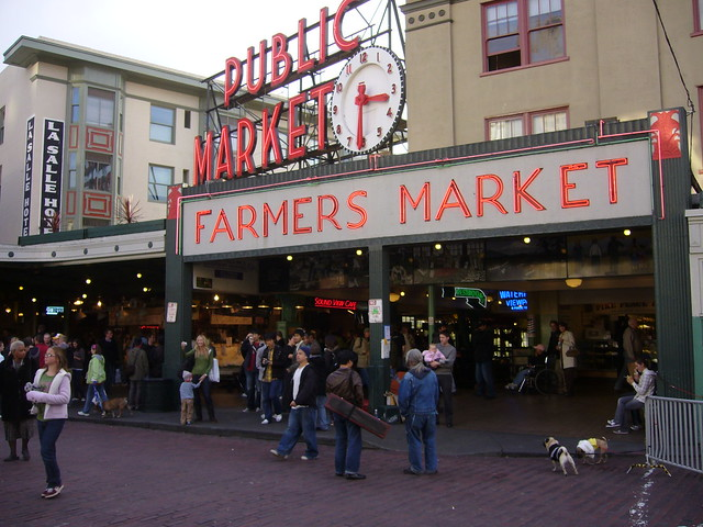Pike Place Market by CC user bhenak on Flickr