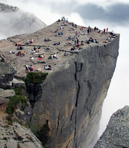 Are you afraid of heights? Come to Preikestolen, Norway!