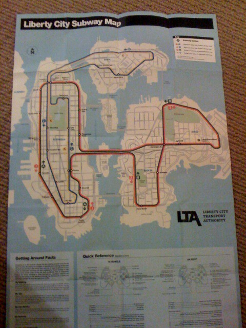 Liberty City Subway Map Flickr Photo Sharing