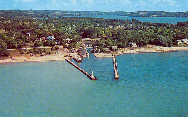 Leelanau Leland before Harbor and other Fishtown Development