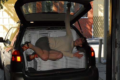 100 Folding Chairs in One Subaru - And Heather
