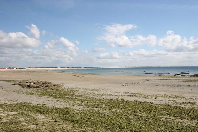 La grande plage de Gâvres à marée basse I