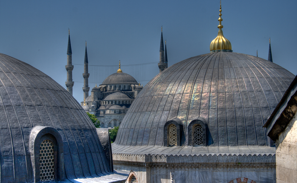 From Aya Sofia, looking toward Blue Mosque