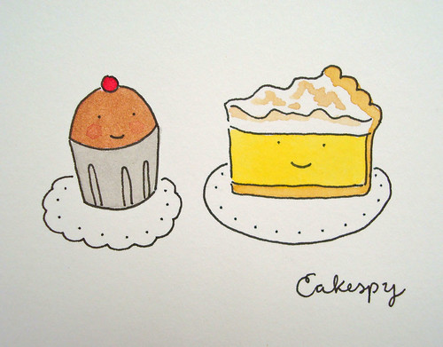 Chocolate Cupcake and Lemon Meringue Pie