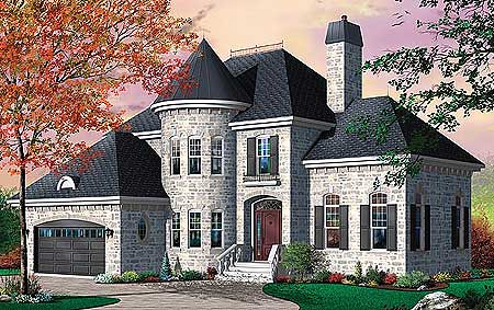 Castle style house flickr photo sharing for House turret designs