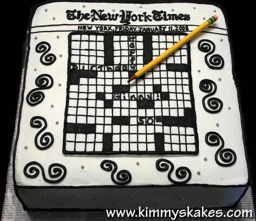 Cake Inspiration: Crossword Puzzle Cake