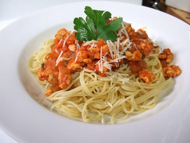 Chicken Spaghetti Bolognese Stock Photo - Image of ... |Spaghetti Bolognese Chicken
