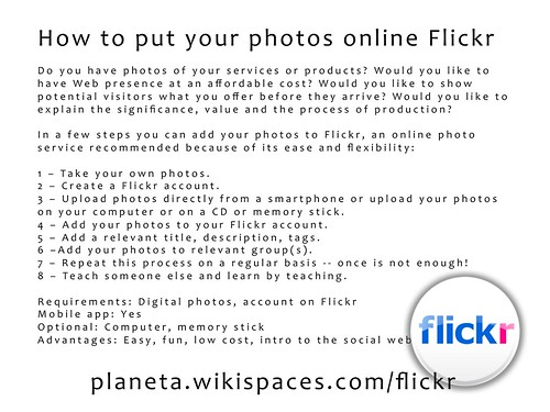 How to put your photos online Flickr