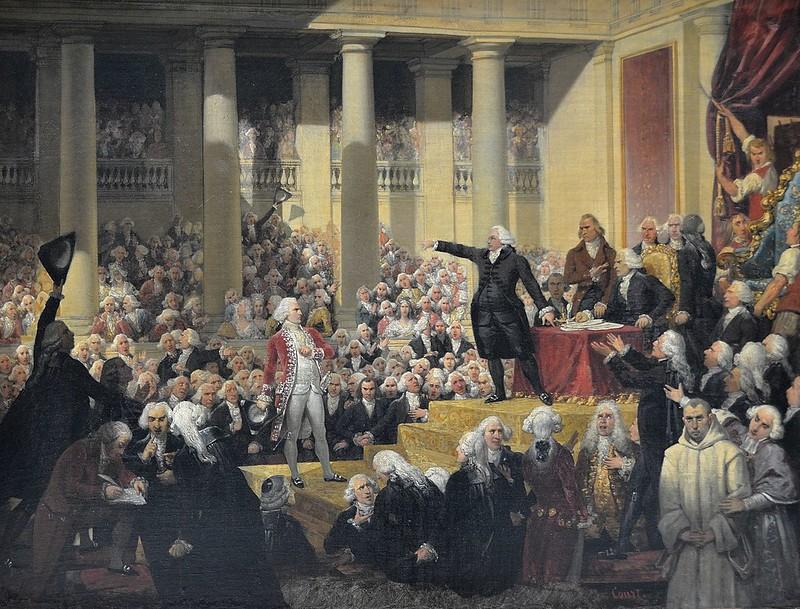 """Rouen (Seine-Maritime) - Musée des Beaux-Arts - """"Mirabeau devant Dreux-Brézé"""" (Joseph-Désiré Court, 1796-1865)"""