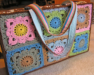 crochet larger than life bag finished