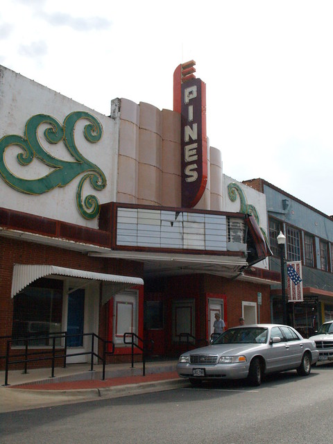 lufkin texas old small town movie theater buildings roads